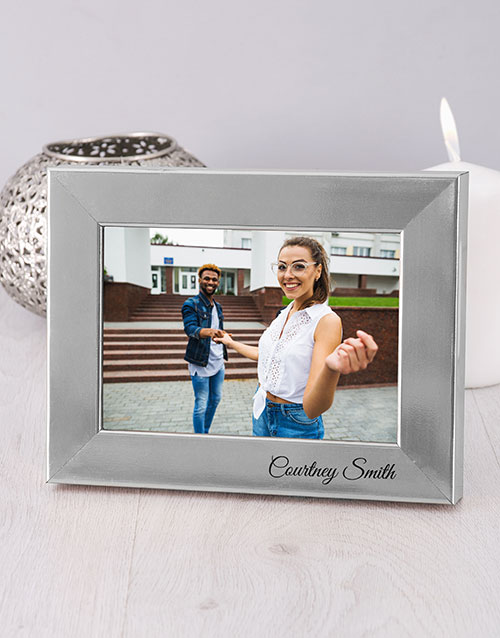 home-decor: Personalised Name Silver Photo Frame!