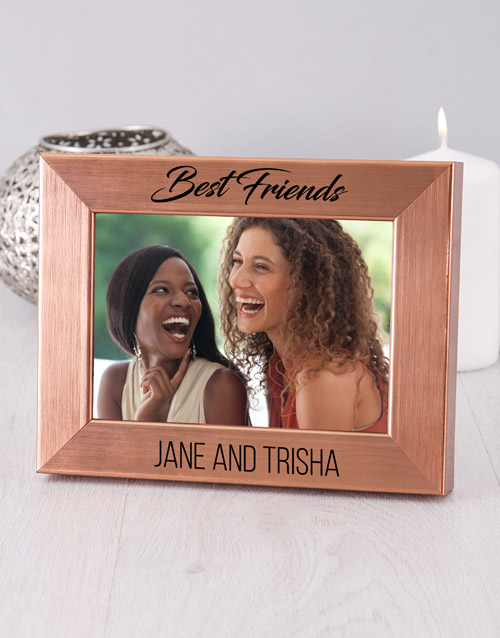 friendship: Personalised Best Friends Gold Photo Frame!