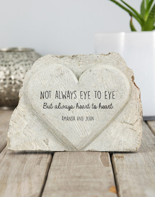 mothers-day: Personalised Heart to Heart Stone Heart!
