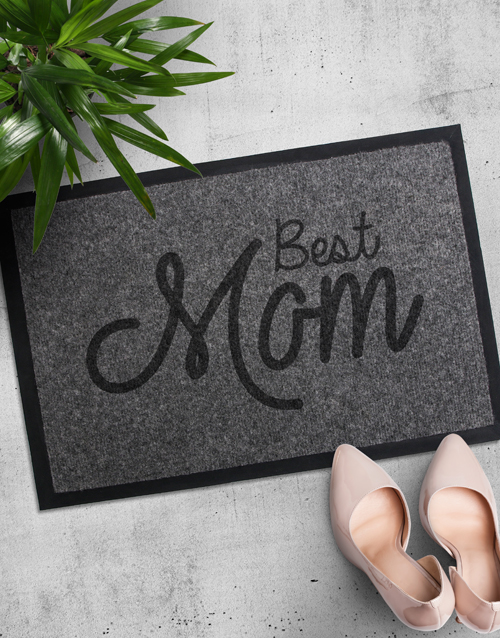 mothers-day: Personalised Best Mom Doormat!