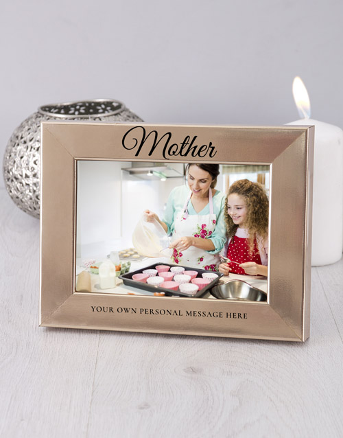home-decor: Personalised Mother Gold Photo Frame!
