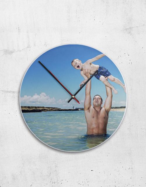 home-decor: Personalised Metal Photo Clock!
