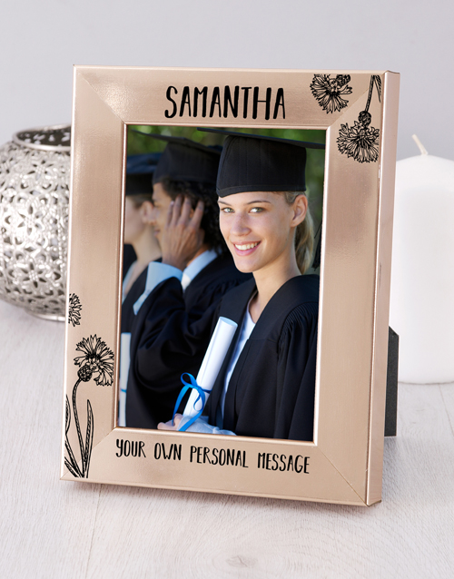 home-decor: Personalised Message Gold Photo Frame!