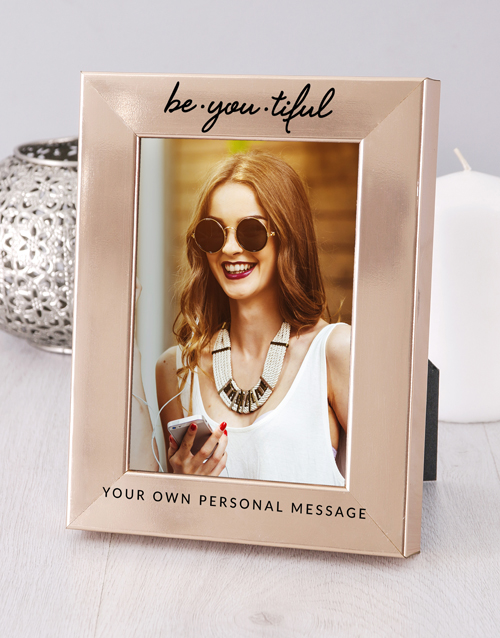 home-decor: Personalised Be You Tiful Photo Frame!