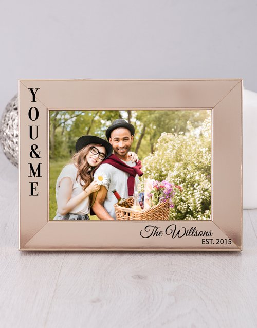 home-decor: Personalised You and Me Photo Frame!