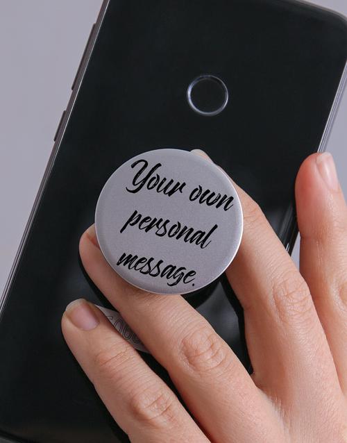 gadgets: Personalised Script Popsocket!
