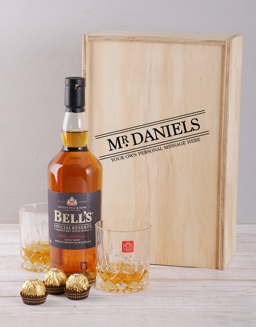 anniversary: Personalised Title Whisky and Crystal Crate!