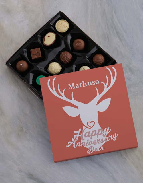 personalised: Personalised Anniversary Chocolate Tray!