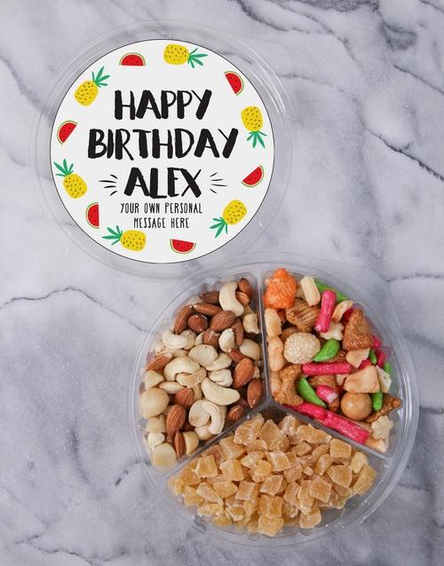 birthday: Personalised Birthday Fruit & Nut Tub!