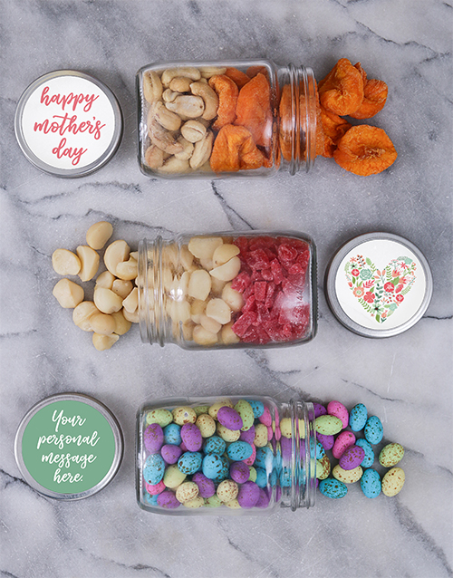 mothers-day: Personalised Mothers Day Fruit Jar Trio!