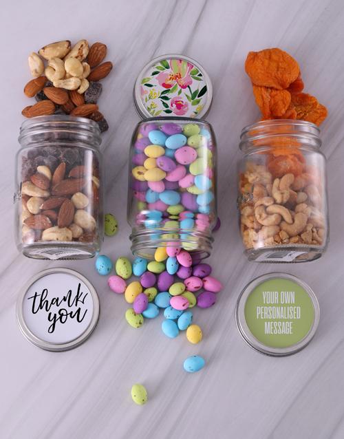 year-end: Personalised Floral Thanks Fruit Jar Trio!