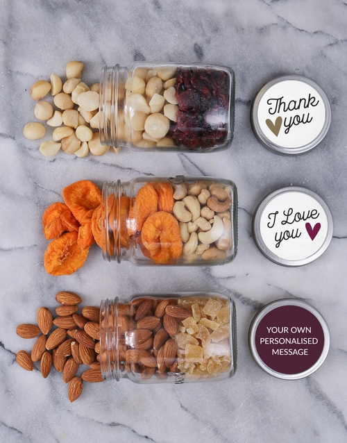 gourmet: Personalised Thank You Love You Jars!