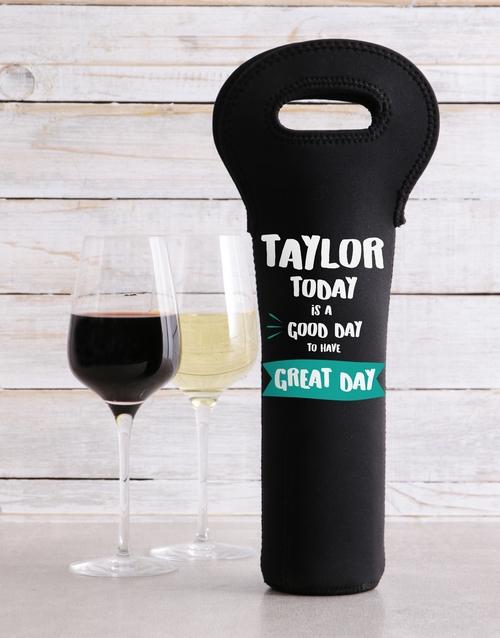 gourmet: Personalised Return To Wine Carrier!