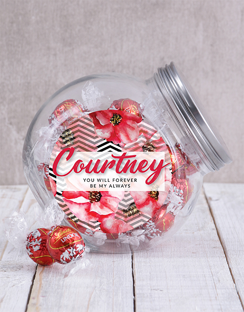 anniversary: Personalised Forever and Always Candy Jar!