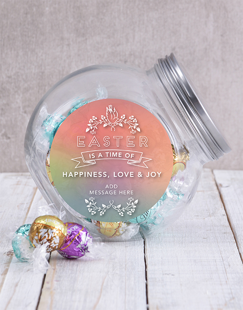 candy-jars: Personalised Happy Easter Candy Jar!