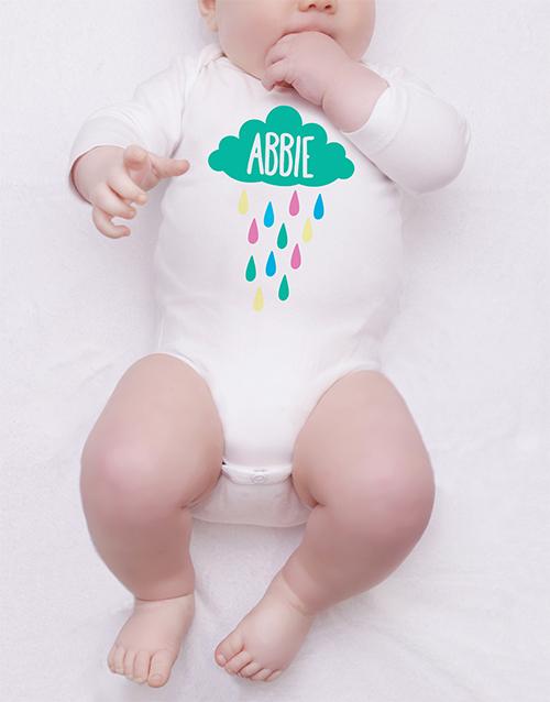 baby: Personalised Rainy Cloud Onesie!