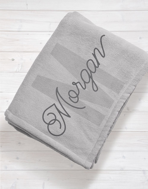 baby: Personalised Initial Baby Fleece Blanket!