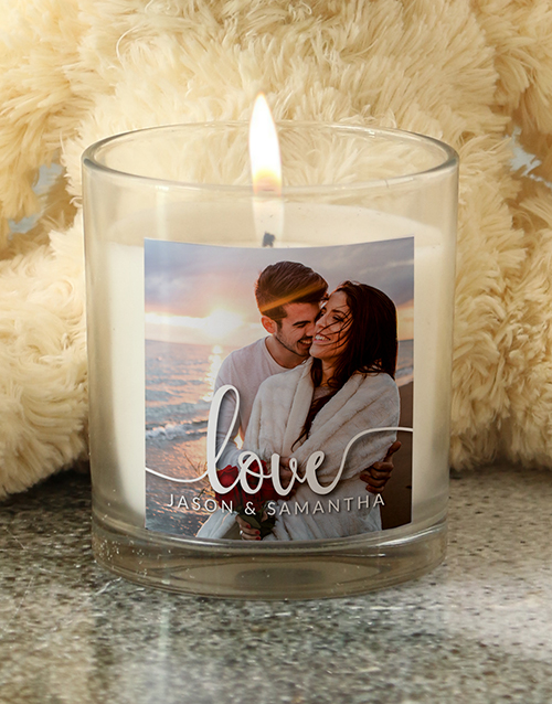 personalised: Personalised Photo Candle!