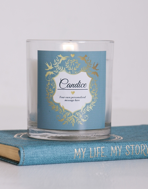 mothers-day: Personalised Vintage Shield Candle!