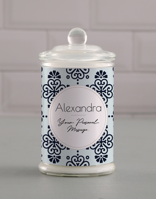 birthday: Personalised Patterned Candle Jar!