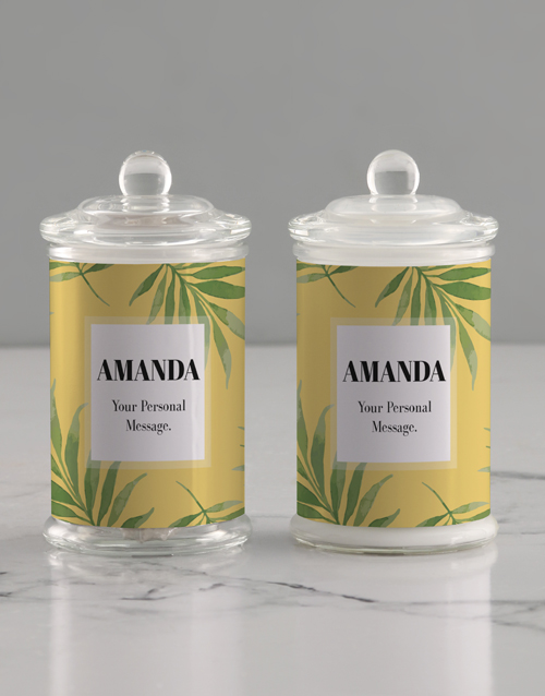 year-end: Personalised Leafy Candle Jar!