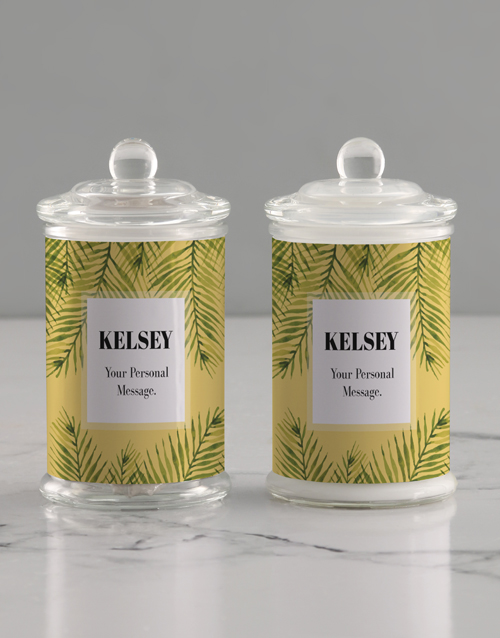 grandparents-day: Personalised Painted Leaf Candle Jar!