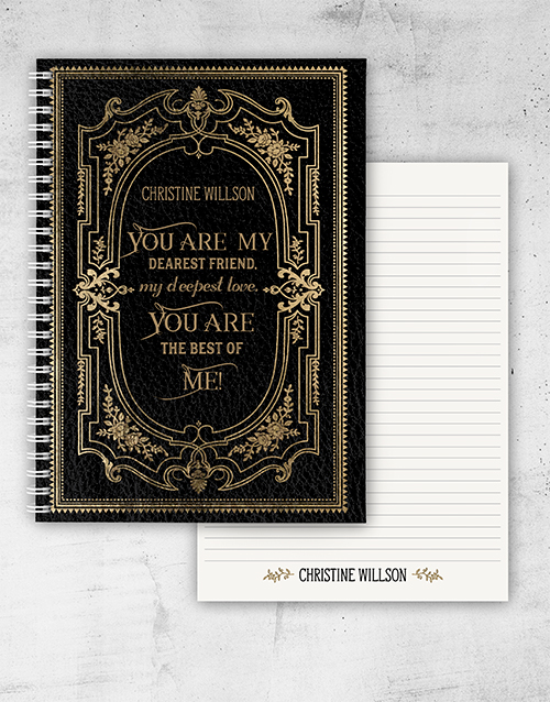 valentines-day: Personalised Vintage Love Quote Notebook!