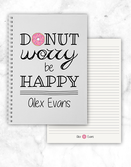 personalised: Personalised Donut Worry Notebook!