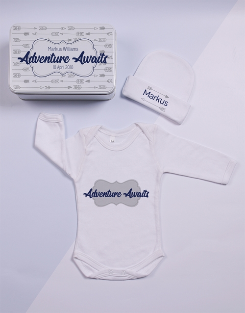 baby: Personalised Keepsake Adventure Tin Gift Set!