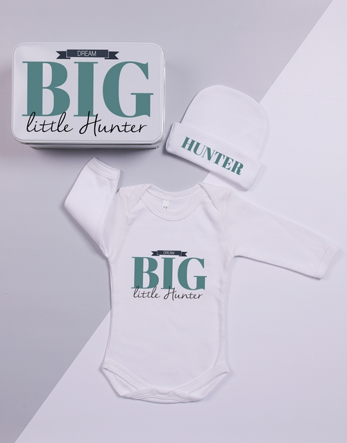 baby: Personalised Keepsake Dream Big Tin Gift Set!