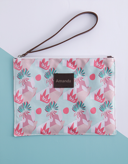 mothers-day: Personalised Abstract Pattern Clutch !