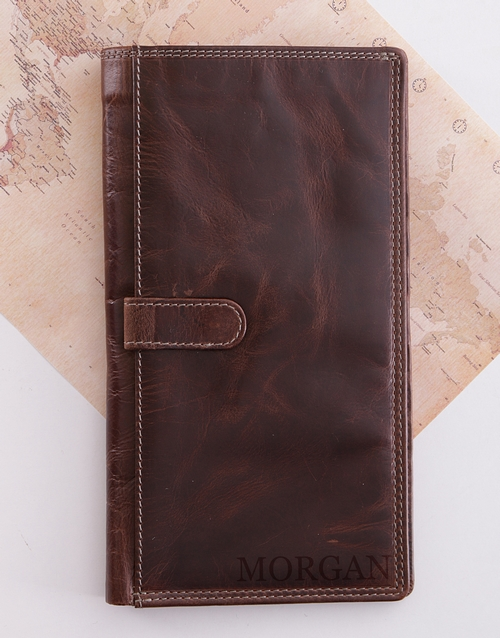 fathers-day: Personalised Leather Travel Wallet!