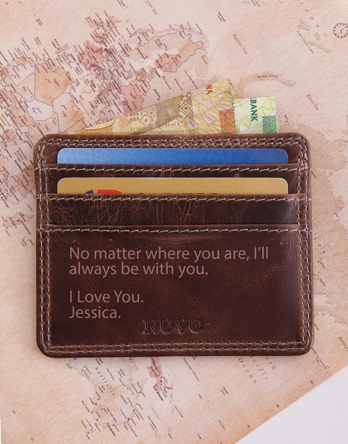 fathers-day: Personalised Leather Slim Wallet!