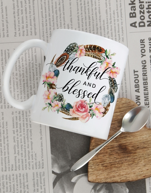 christmas: Personalised Thankful and Blessed Mug!