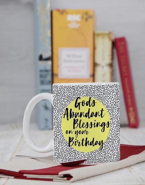 personalised: Personalised Abundant Blessings Birthday Mug!