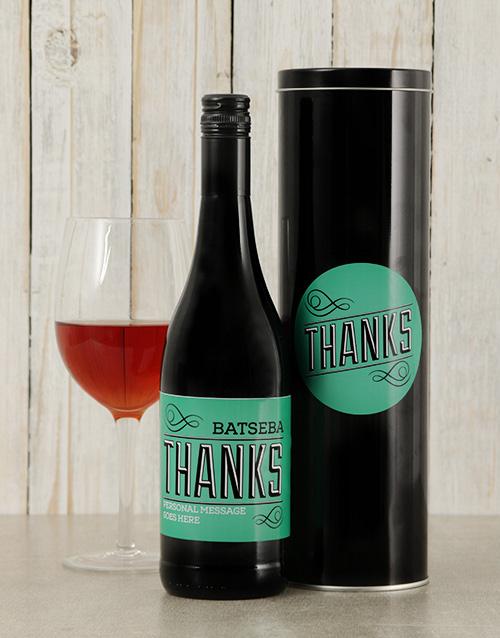 black-friday: Personalised Thanks Wine Tin!