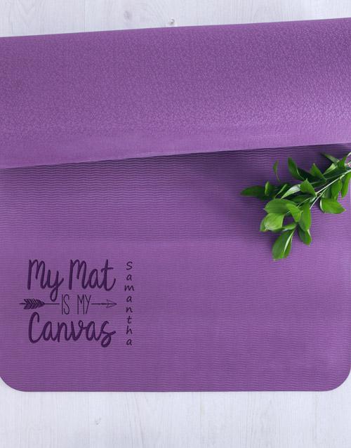 personalised: Personalised Canvas Yoga Mat!