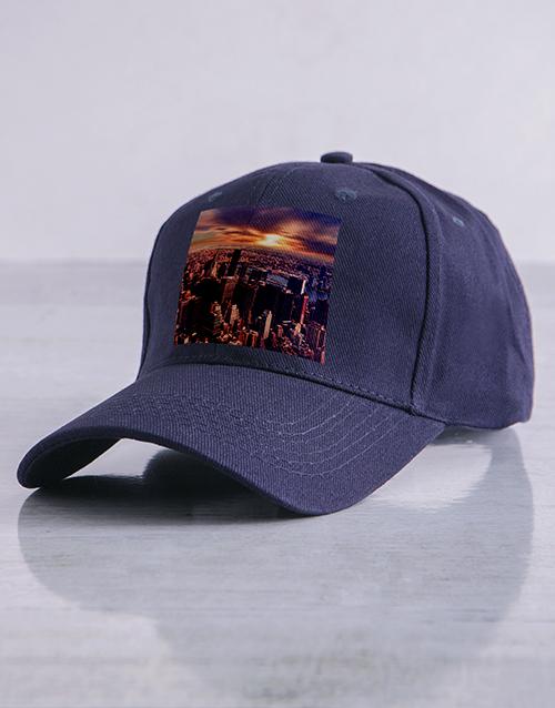 personalised: Personalised Navy Photo Peak Cap!
