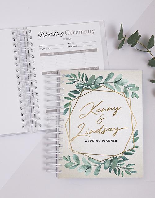 journals: Personalised Wreath Wedding Journal!