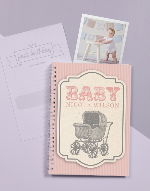 baby: Personalised Classic Babys First Year Journal!