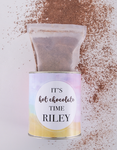coffee-and-tea: Personalised Hot Chocolate Time Tin!