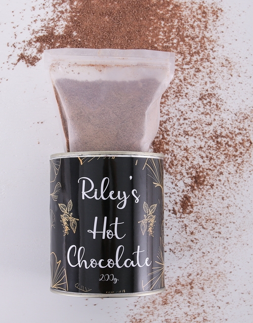personalised: Personalised Hot Chocolate Leafy Tin !