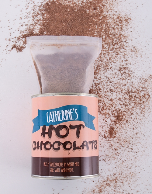 personalised: Personalised Top Deck Hot Chocolate Tin!