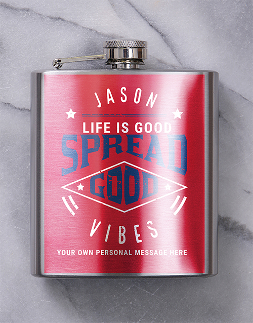 fine-alcohol: Personalised Good Times Hip Flask!