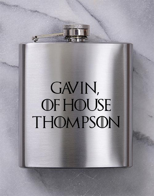 personalised: Personalised GOT Hip Flask!
