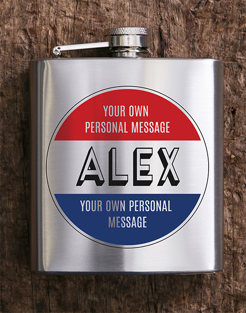 fine-alcohol: Personalised Stamp Hip Flask!