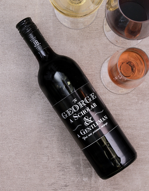 fine-alcohol: Personalised Gentleman and Scholar Wine!
