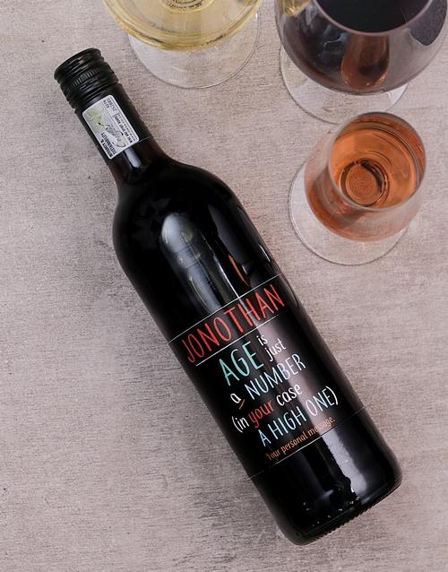 personalised: Personalised Just a Number Wine!