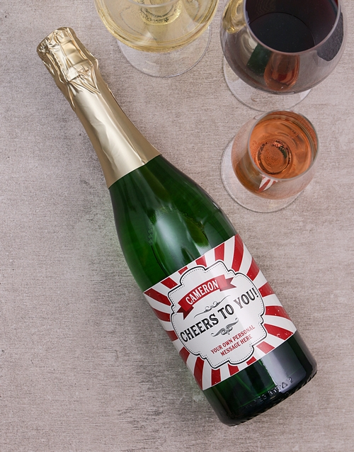 fine-alcohol: Personalised Cheers Wine!