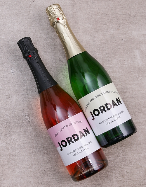 personalised: Personalised Geometric Wine Duo!